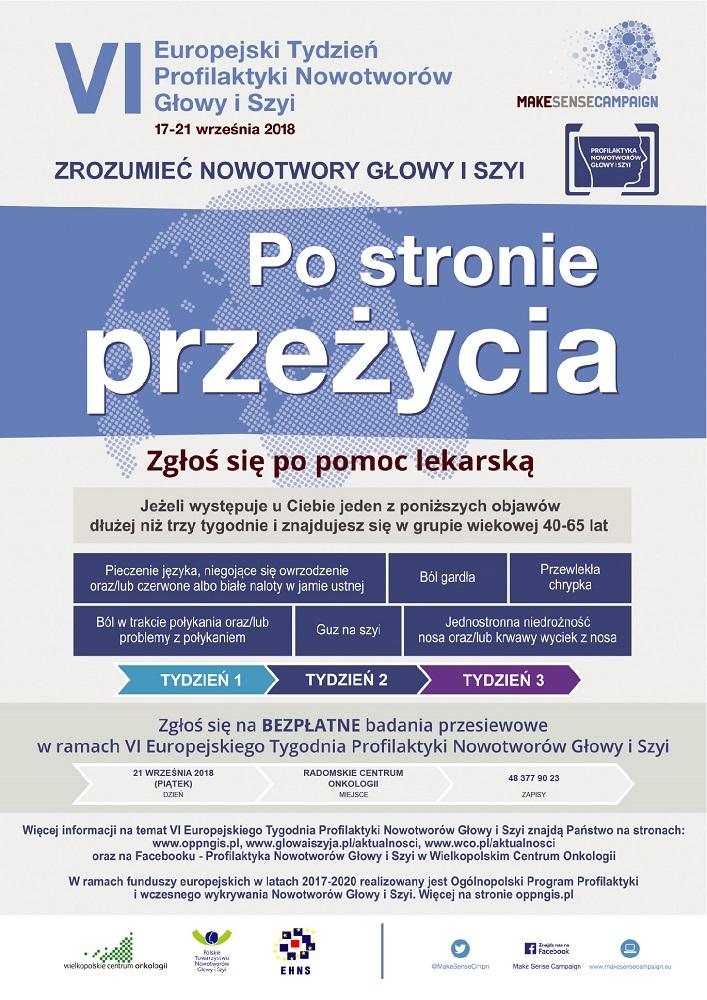 VI Europejski Tydzień Profilaktyki Nowotworów Głowy iSzyi